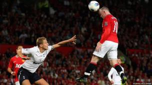 Manchester United 3-0 Tottenham - Wayne Rooney scores his goal