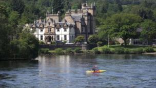 Cameron House Hotel on banks of Loch Lomond