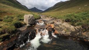 Waterfall in Glen Rosa on Arran