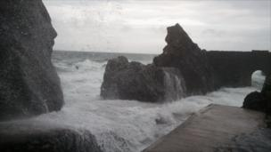 Waves at Portpatrick, Dumfries and Galloway