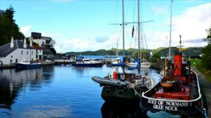 End of the Crinan Canal, Argyll