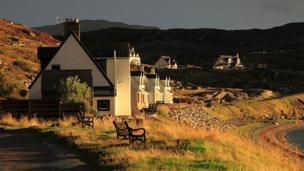 Houses in Ardmair Bay, Ullapool