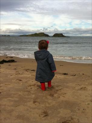 Anna on Yellowcraigs beach