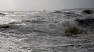 Waves in Port Erroll harbour