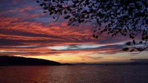 Sunrise over the River Forth