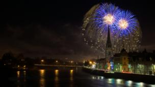 Fireworks over Perth