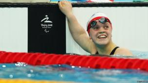 Ellie Simmonds at the Beijing Olympics in 2008