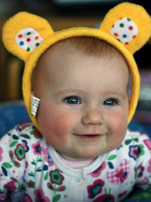 Grace wearing Pudsey ears