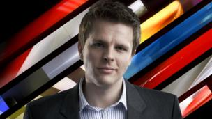 BBC Formula 1 presenter Jake Humphrey