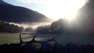 Dawn breaking in Glen Lyon