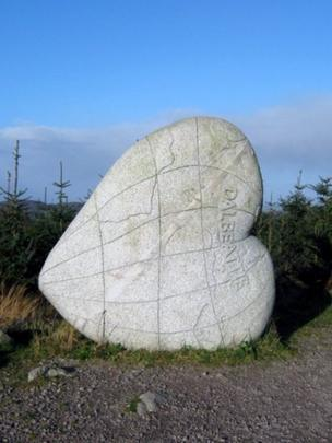 Heart Stane in Dalbeattie Forest