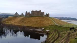 Ruthven Barracks near Kingussie in the Highlands