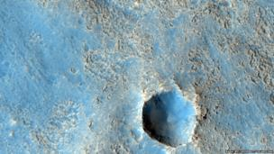 Crater on Mars
