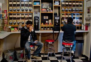 A coffee shop near lake Tahoe