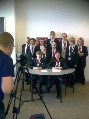 The School Report team from Kingsthorpe College in Northampton
