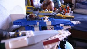 Close up of some of the Star Wars Lego sets