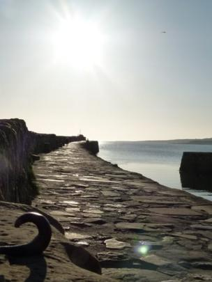Harbour wall in St Andrews
