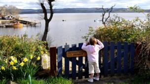 Eva enjoys the view of Loch Lomond