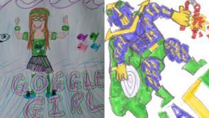 Goggle Girl and Rewarrior