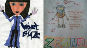Violet Blaze and Zenon