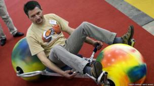 Man on the Ball Rider, a new sports vehicle