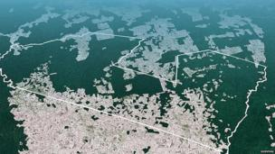 Aerial picture of Awa land