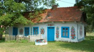 Painted cottage in Zalipie
