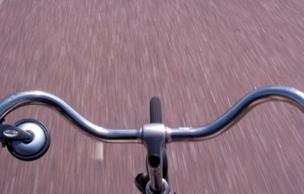 A bicycle's handlebars