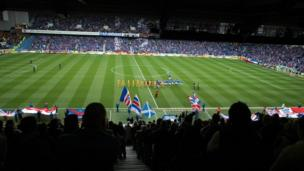 Rangers play Motherwell at Ibrox