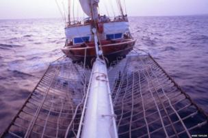 The Mandalay at sea