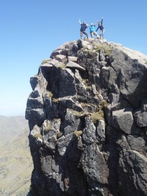 People on the ridge of Ben Cruachan