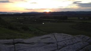Sunset over Dunadd