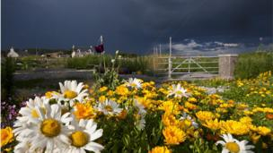 Storm clouds gather at the Isle of Iona. Picture taken by Martin Kubes.