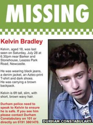Durham Constabulary Missing Person Poster For Kelvin Bradley  Missing Person Posters