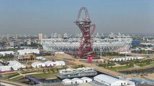 Image Caption Many Jobs Were Created In Building The Olympic Park