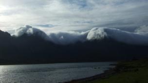 Low hanging cloud