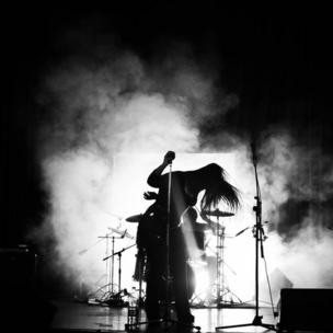 A gothic metal band in concert