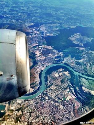 River from an aircraft window