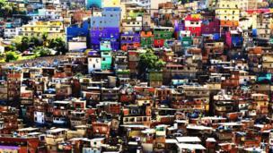 Rocinha, one of the largest favelas in Rio de Janeiro.