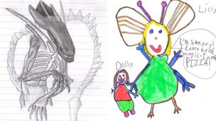 Nathan and Rosa's alien creations