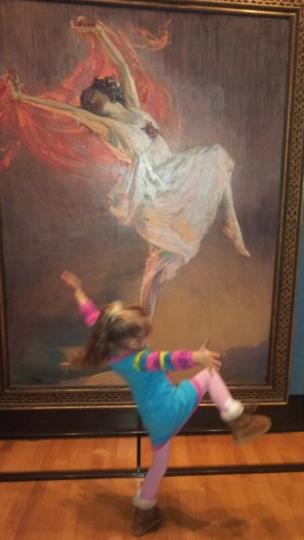 Kirsty Kelly from Coatbridge took her daughter Becca to Glasgow's Kelvingrove Art Gallery after her dance class and said she was inspired by the painting.