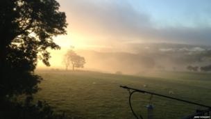 Early morning mist in Claudy. Taken by Anne Donaghy