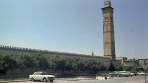File photo from 1973 showing the Umayyad Mosque