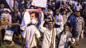 Southern Movement protesters in Aden. Photo: Luke Somers