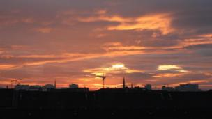 Sunrise over Glasgow