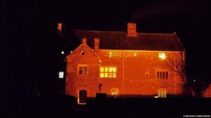 Llancaiach Fawr Manor at night