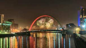 Fireworks over Glasgow