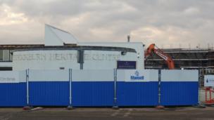 Bulldozer at the old Bannockburn Heritage Centre