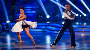 Dani Harmer performs the tango