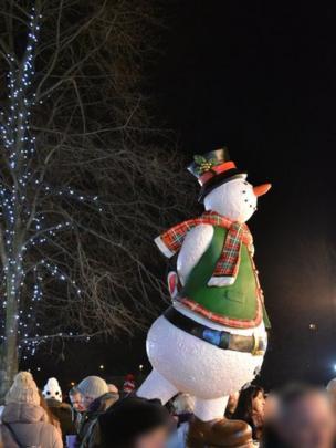 Snowman at the Edinburgh Christmas Festival